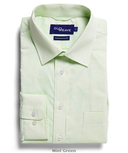 Square Dobby Premium Corporate Shirt #1251L Mint Green With Logo Service