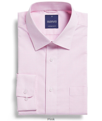 Square Dobby Premium Corporate Shirt #1251L #PINK With Logo Service