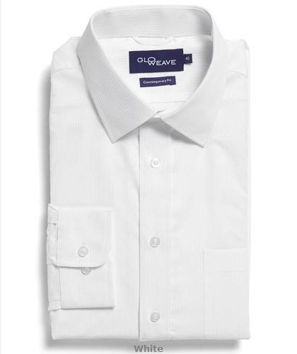 Square Dobby Premium Corporate Shirt #1251L #WHTE With Logo Service