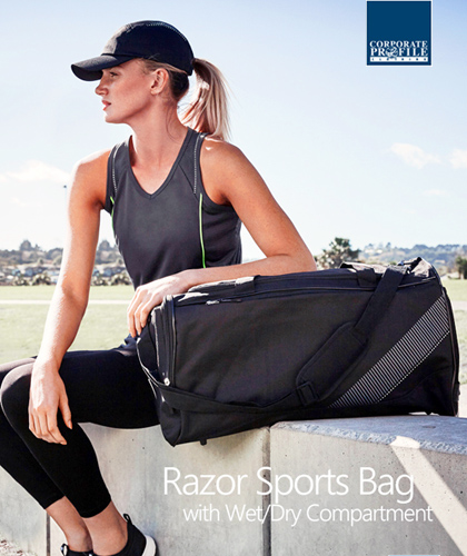 Inspect a sample of the Razor Sport Cap #C412 and Womens Training Tee #SG407L. Sport Cap is available in Black, Navy, Red and Royal. Polyester sports interlock, with stretch fit for extra comfort. The Razor Cap has a Grey/White stripe print on the crown and 5 panel design feature. The material is a breathable fabric that wicks away moisture off the skin and allows maximum airflow to maintain comfort in any situation. Enquiries Call Free on 1800 654 990