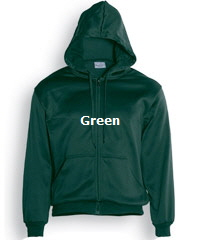 Hoodie-#CJ1062 Bottle Green with logo Service