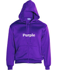 Hoodie-#CJ1062-Purple with Logo Service