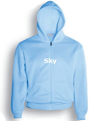 Hoodie-#CJ1062-Sky Blue with Logo Service