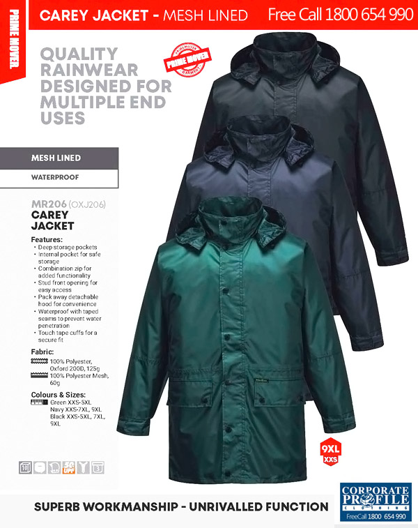 Waterproof Work Jacket #MR206 With Logo Service 600px