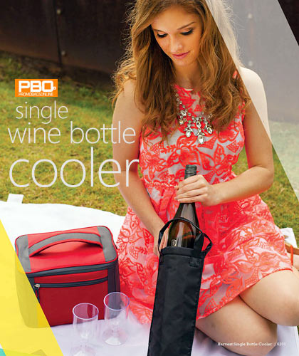 Promotional Wine Cooler shown at Picnic Races