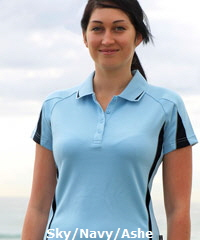 Sky Blue and Navy Polo Shirt for Uniform Outfits and Sporting Clubs  Eureka #1304 With Logo Service