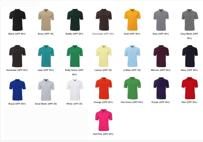 Best-in-Basics-210-Polo-Shirt-Colour-Card-2016
