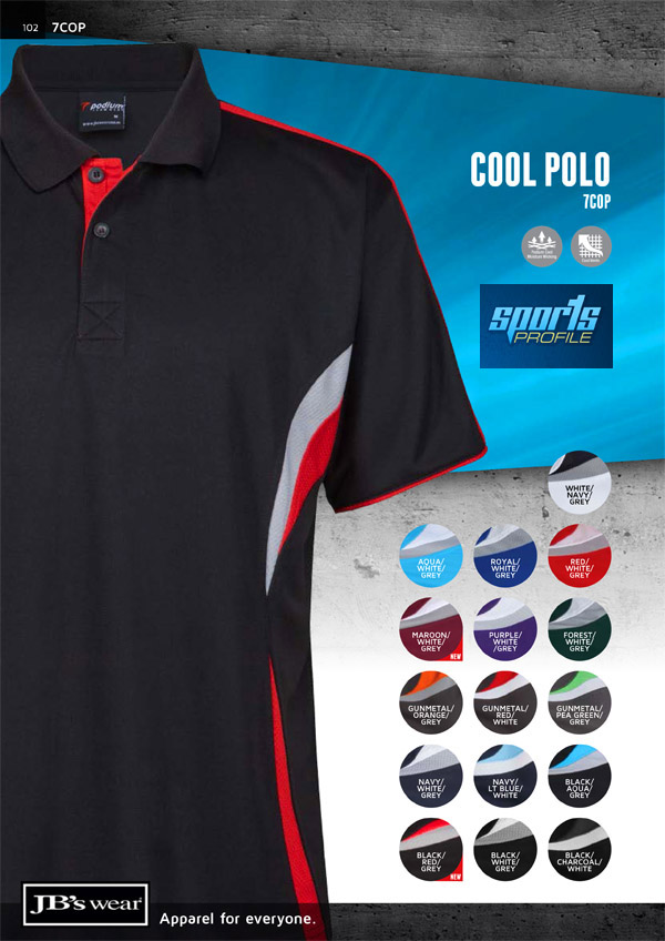 These Podium Polo's feature brilliant team colours for Corporate or Clubs. The breathable fabric is easy to wear with good classic comfortable sizes to keep everyone in your organisation looking good. There's also 15 Womens Colour Combinations...for all the details the best idea is to FreeCall 1800 654 990