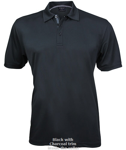 DryMax Corporate Polo Shirt #1062 and Womens Polo #1162, With Logo Service. Perfect for Queensland customers and hot weather locations. Available Black/Charcoal trim inside collar. The new DryMax technolgy fabric manages heat and moisture, helps to keep skin dry all day. The fabric features a fashionable pinhead-weave. Corporate Sales please Call Free 1800 654 990