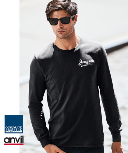 Anvil Corporate Wear Long Sleeve T-Shirt #880 With Printing and Embroidery Service. Weight 150gsm. Modern appearance designed to fit and wear with ease, Anvil is reflective of your modern lifestyle. Anvil Tees, Long Sleeves and Hoodies: Enquiries FreeCall 1800 654 990