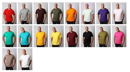 Surf Tee Range of Colours 700px
