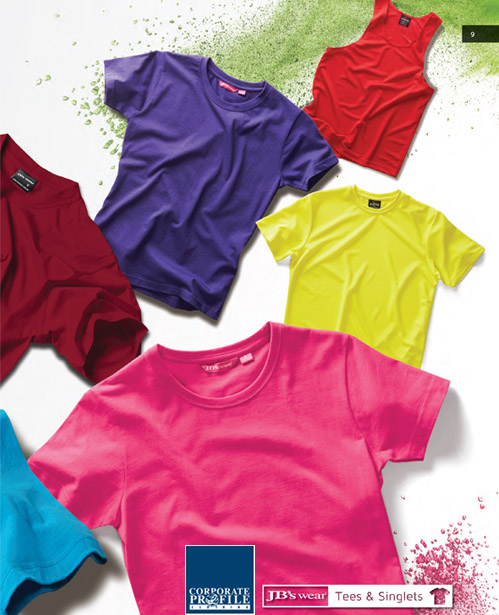 Best in Basics T-Shirts for 2018 #1HT With Printing Service for Business and Clubs. The JB's Tee #1HT is available in 23 colours. The impressive 190 gsm jersey fabric is comfortable to wear, has a modern fit style, and is easy and inexpensive to coordinate for staff uniforms, workwear, advertising and teamwear. Just a few of the features include twin needle double stitched seams for long lasting value. The elastane rib neck keeps its shape for neater appearance which is great if worn for staff uniforms or outdoors workwear etc.  The JB's Tee 1HT complies with the Australian Standard for UPF Protection-AS/NZS 4399:1996. for Corporate Sales Enquiry Call Free 1800 654 990 Customers appreciate the comfort and durability of this very good t-shirt.