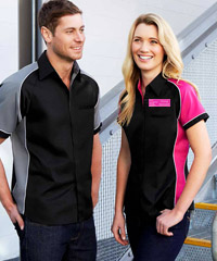 Nitro-Colour-Smart-Shirts-Black-and-Pink-200px